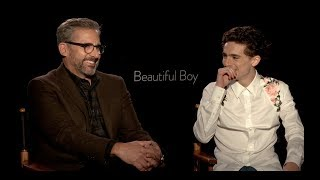 BEAUTIFUL BOY: Steve Carell and Timothee Chalamet Interview