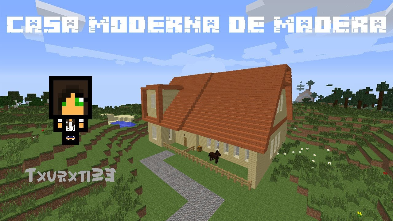 Minecraft casa moderna de madera links de descarga youtube for Casa moderna madera minecraft