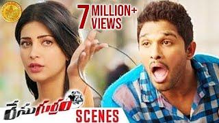 Shruti Haasan's Character Shocks Allu Arjun | Race Gurram Movie Scenes | Surender Reddy | Thaman S