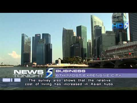 S'pore third most expensive city in Asia to live in - 04Feb2013