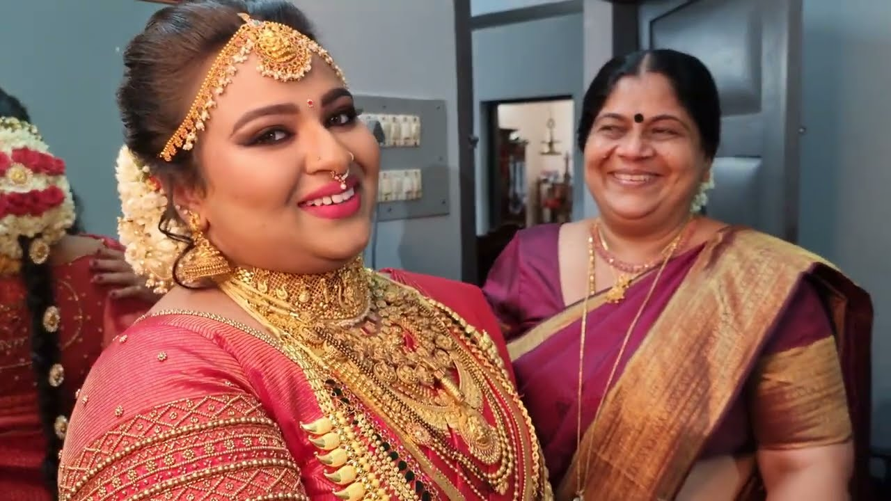 Kerala bridal makeover I Traveling wedding makeup artist Kerala I Happy bride Kollam I Vikas vks