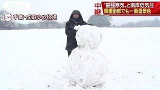 9日の関東地方は上空に流れ込んだ強い寒気と南岸低気圧の影響で朝から雪...