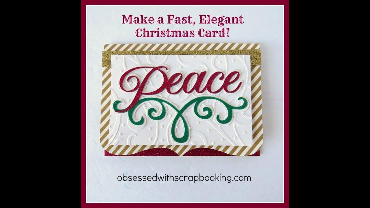 Make an Anna Griffin Cricut Winter Wonderland Peace Christmas Card ...