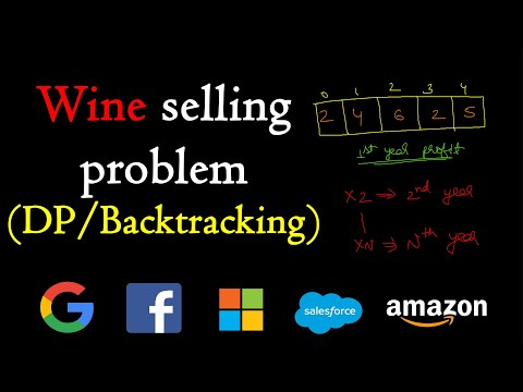 Wine selling problem | Dynamic programming | Backtracking