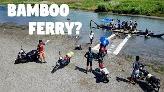AMAZING BAMBOO MOTORCYCLE FERRY IN THE PHILIPPINES! (Crazy Filipino Boat)