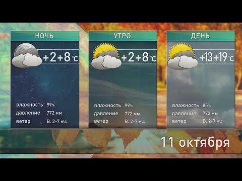 Прогноз погоды на 11 октября