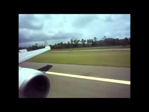 Caribbean Airlines takeoff from trinidad and land in tobago