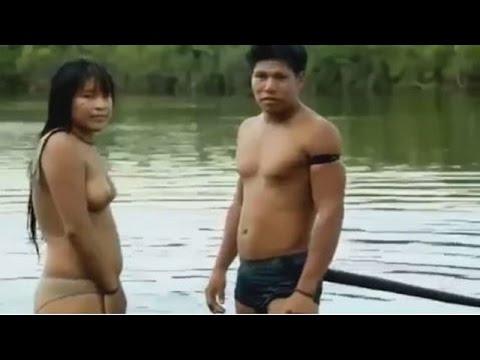 Yawalapiti Xingu  daily Life of Young Man And a Girl, Yawalapiti Women, Yawalapiti girls in Brazil