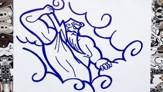 Como dibujar a Zeus   how to draw zeus   como desenhar zeus