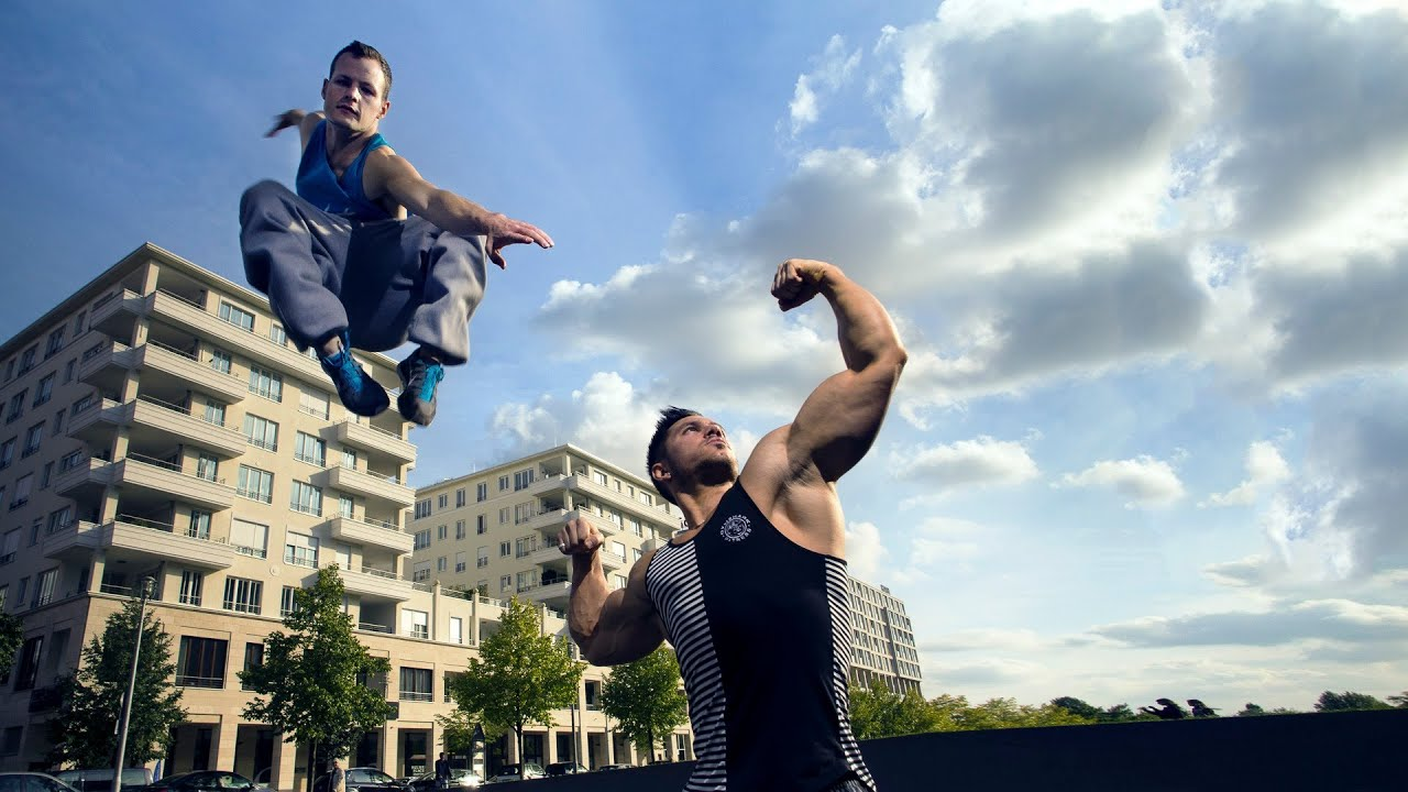 Bodybuilder Meets Parkour / Freerunning (eng sub) - YouTube