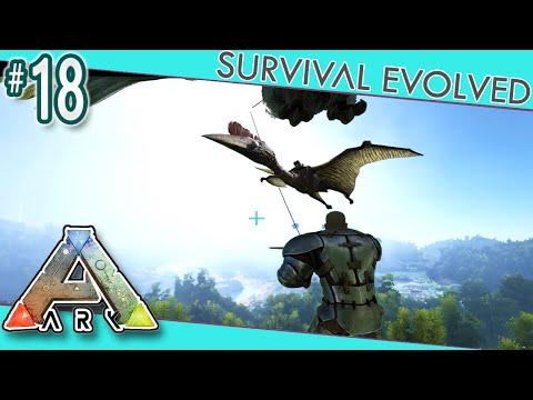 ARK: Survival Evolved - Solo Grappling Hook Quetzal Tame!  S3E18