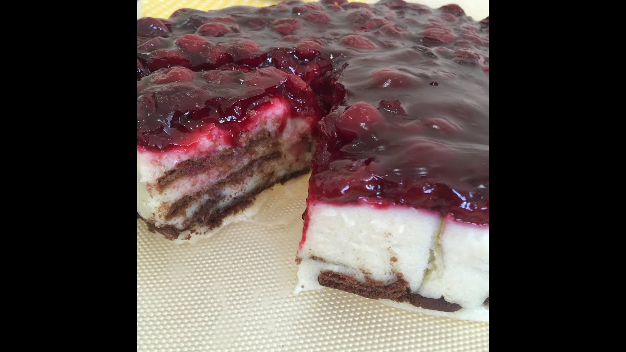 Vişne Reçelli Yaş Pasta Tarifi Videosu