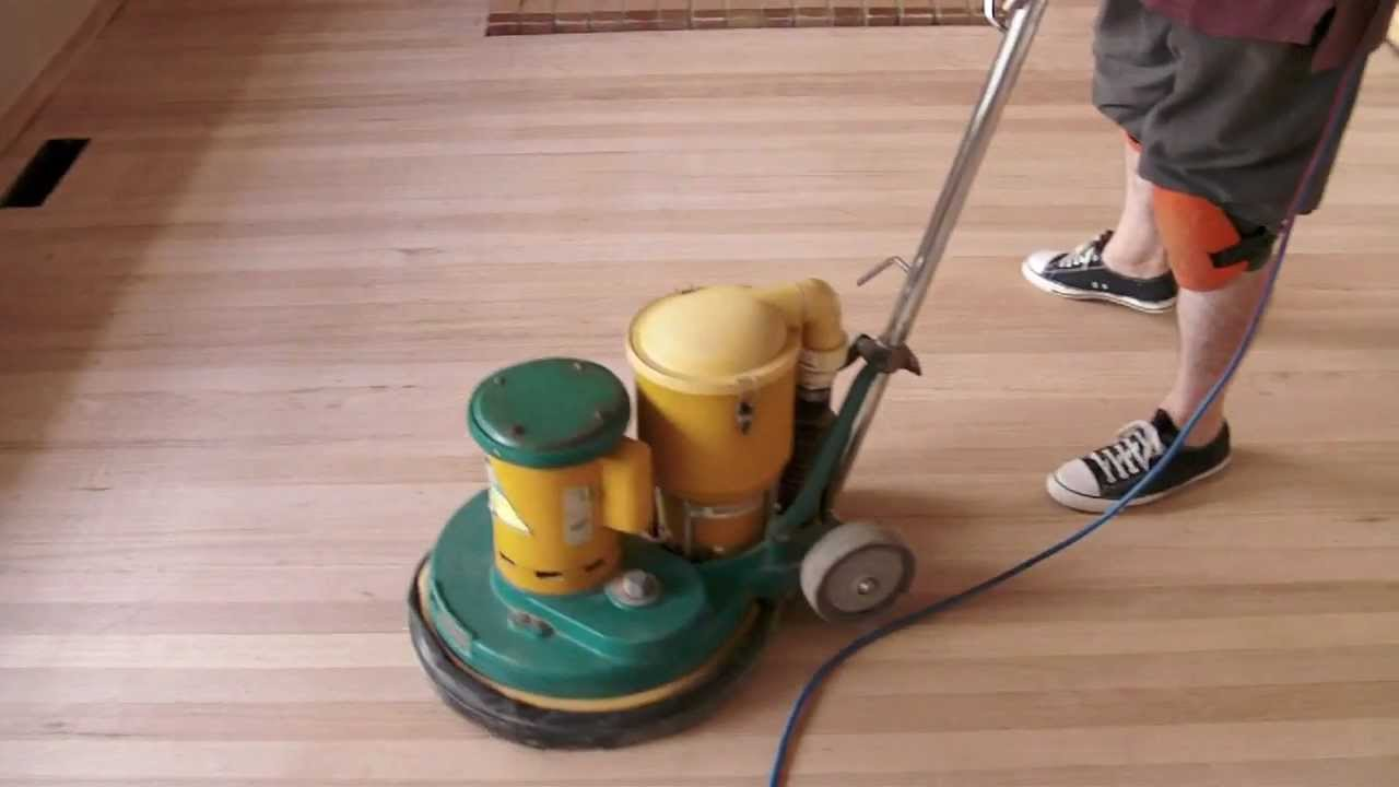 Rotobic Polisher Working As A Floor