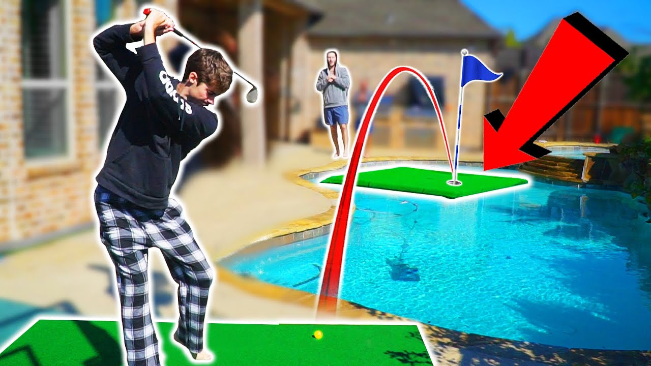 We Built A Floating Putting Green In Our Pool   GM GOLF