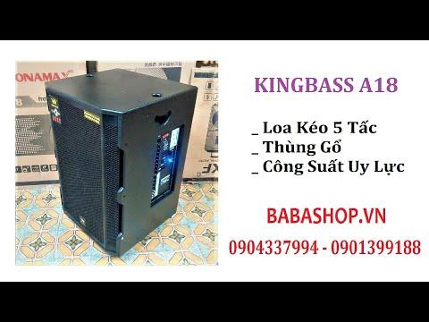 BABASHOP.VN - Bass 6 tấc Loa kéo di động Kingbass A18, công suất lớn