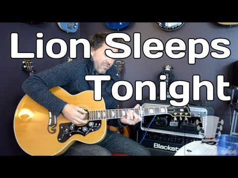 Lion Sleeps Tonight by The Tokens - Guitar Lesson
