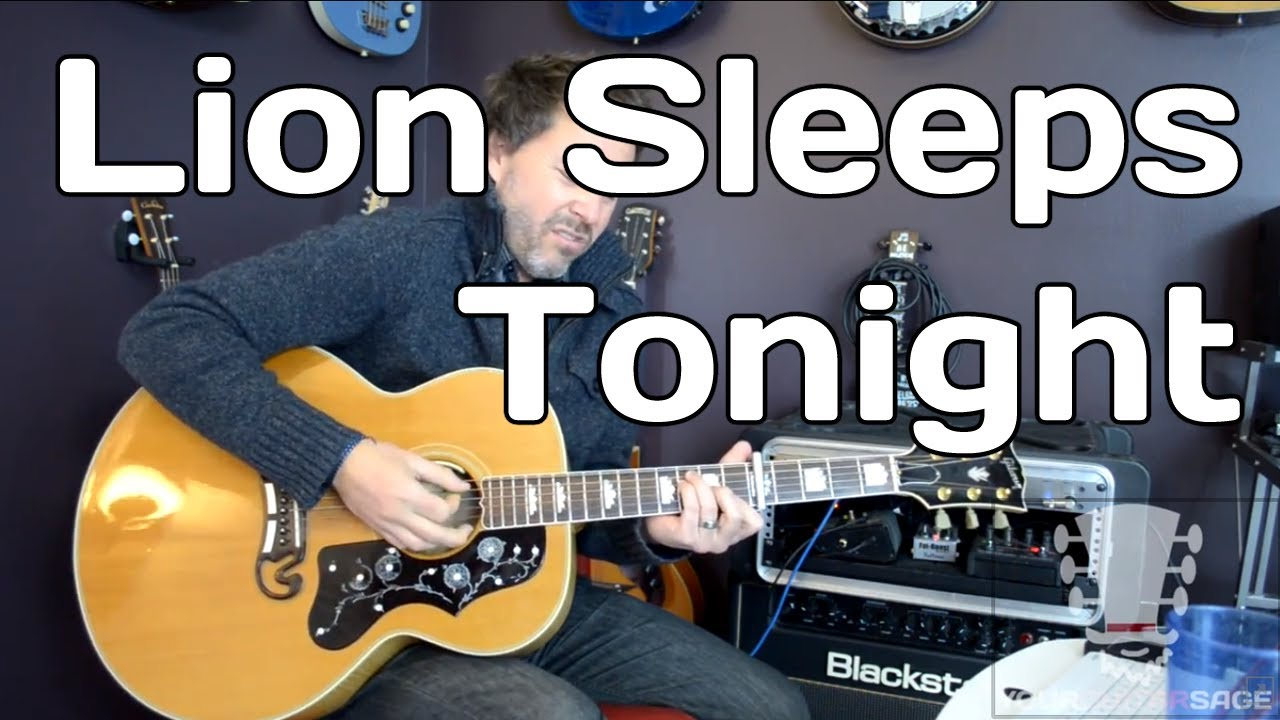 Lion Sleeps Tonight By The Tokens Guitar Lesson Youtube