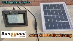 Banggood - Solar Powered 54 LED Sensor Flood Light Waterproof Outdoor Lamp / Free product review
