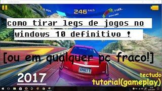 Aprenda tirar LAGS de jogos para rodar em notebook super fraco , VEJA .... TESTE DE JOGO ASPHALT 8