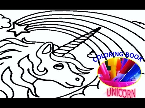 Best Disney Image Rainbow Unicorn Colouring Book Kid S Disney Coloring Page