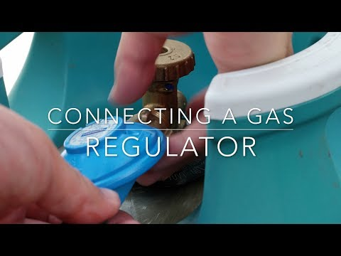 Connecting a gas regulator