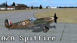 LGR - Trying to fly the Supermarine Spitfire Mk 1a by A2A Simulations
