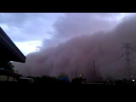 Cenas apocalípticas: Mega nuvem de poeira engole o Arizona. Muito estranho...