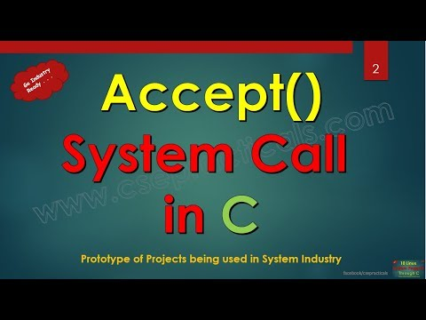 accept System Call in C