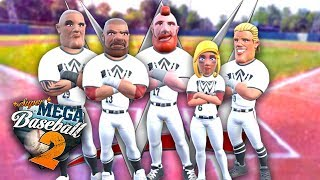 WWE SUPERSTARS TAKE THE FIELD!! | Super Mega Baseball 2