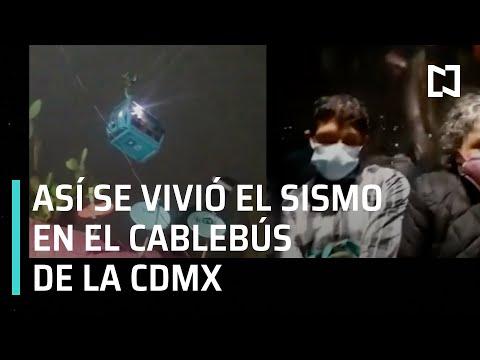Sismo en el Cablebús en CDMX 2021 - Las Noticias
