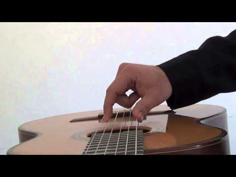 Classical Guitar Technique- Collapsible joint rest stroke, Part 2
