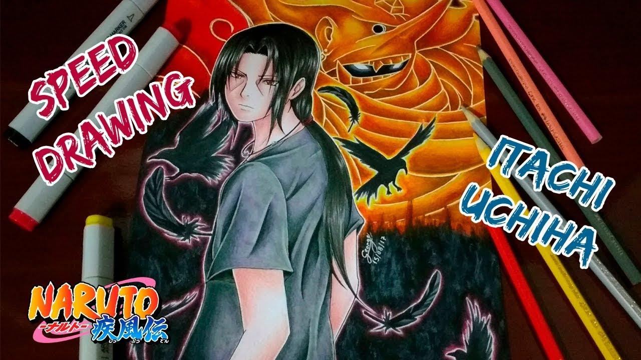 Speed Drawing Itachi Uchiha Susano O Naruto Youtube