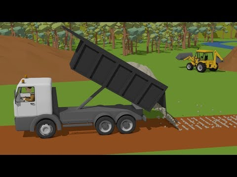#Truck and Excavator, Dump Truck and Roller Truck | Trucks Street Vehicles | Maszyny Budowlane