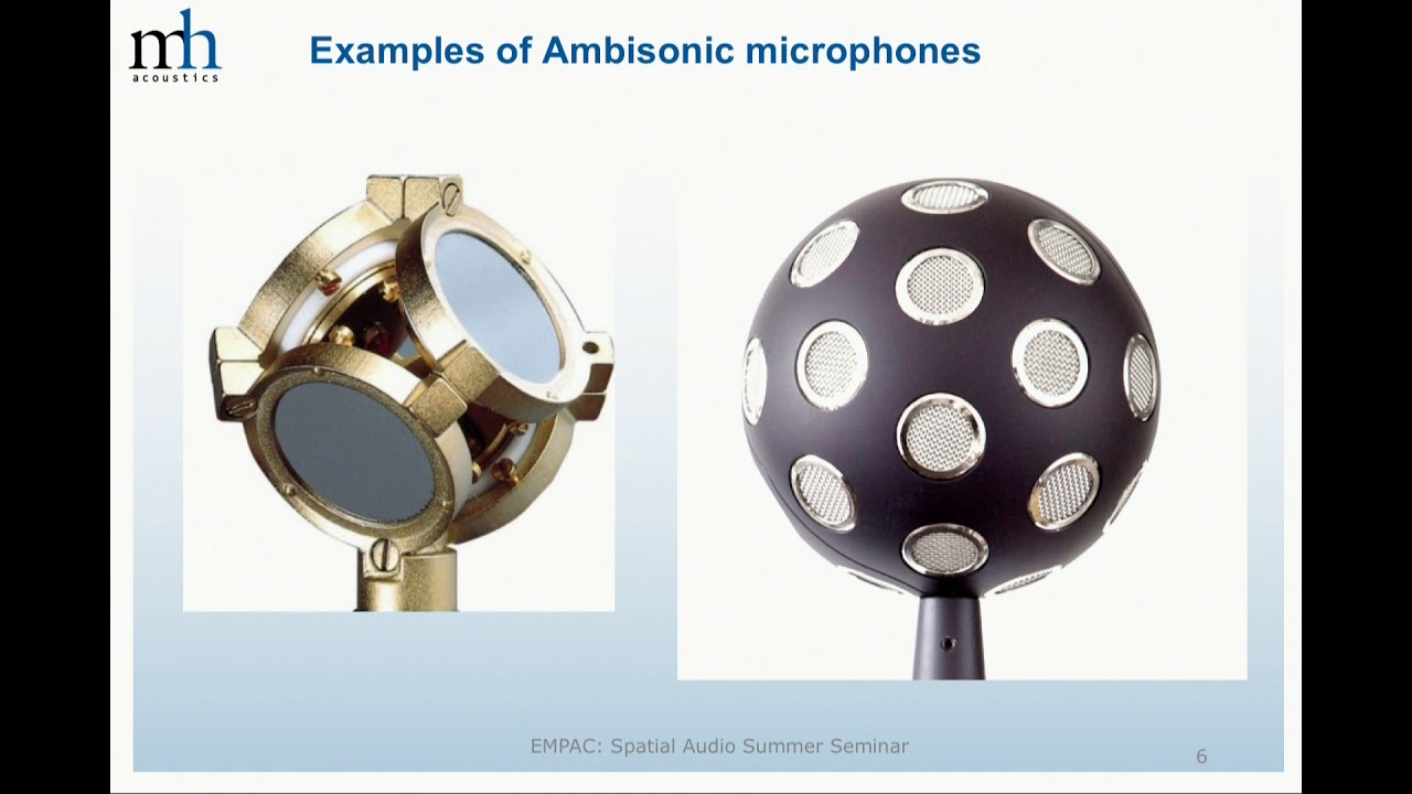 Ambisonics higher order ambisonic microphones from theory to application: spatial  audio summer seminar 2018