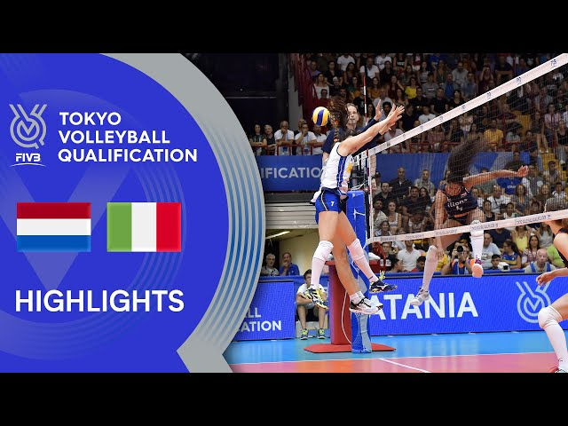 NETHERLANDS vs. ITALY - Highlights Women | Volleyball Olympic Qualification 2019
