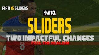 FIFA 15 Sliders Breakdown - Two Impactful Changes (Gameplay)