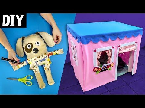 DIY para Crianças 🏠🐶 Casa de Pano,...