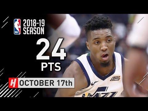 Donovan Mitchell Full Highlights Jazz vs Kings 2018.10.17 - 24 Points!