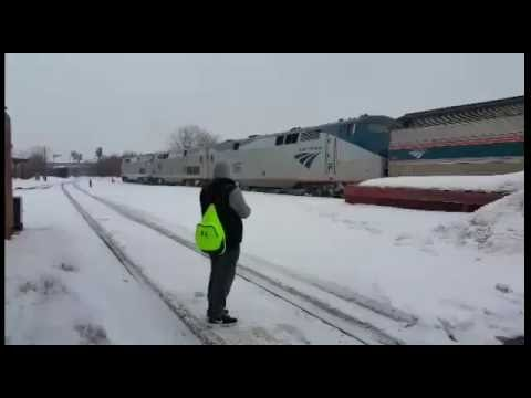 Thumbnail: Amtrak Train 449 - Lake Shore Limited - Springfield - 01 March 2015