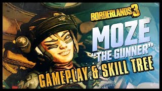 Borderlands 3 - NEW Moze Gameplay & Skill tree preview