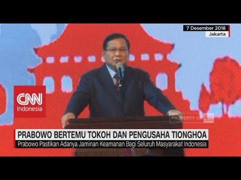 Prabowo Bertemu Tokoh & Pengusaha Tionghoa Mp3