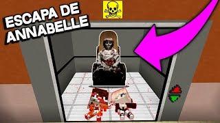 ESCAPA DE ANNABELLE 3 EN EL ELEVADOR DEL TERROR EN MINECRAFT | SRGATO
