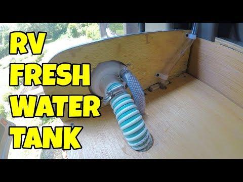 RV Fresh Water Tank Installation - YouTube