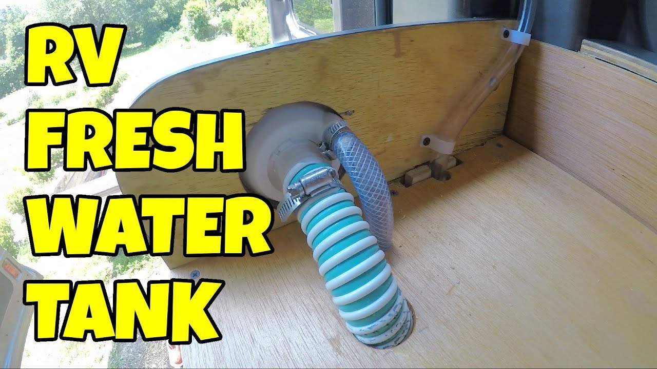 RV Fresh Water Tank Installation