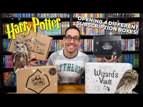 UNBOXING 4 DIFFERENT HARRY POTTER SUBSCRIPTION BOXES | LootCrate, GeekGear, Owl Post, Wizard's Vault