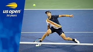 Borna Coric Wins in Straight Sets Over Daniil Medvedev at the 2018 US Open