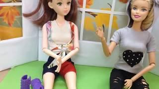 Hướng dẫn bé may Quần Thun cho búp bê Barbie