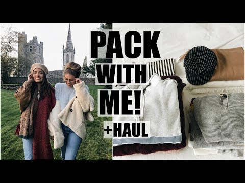 Pack With Me For Ireland // Huge Fashion Haul