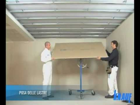 KNAUF Controsoffitto Aderenza D111  YouTube