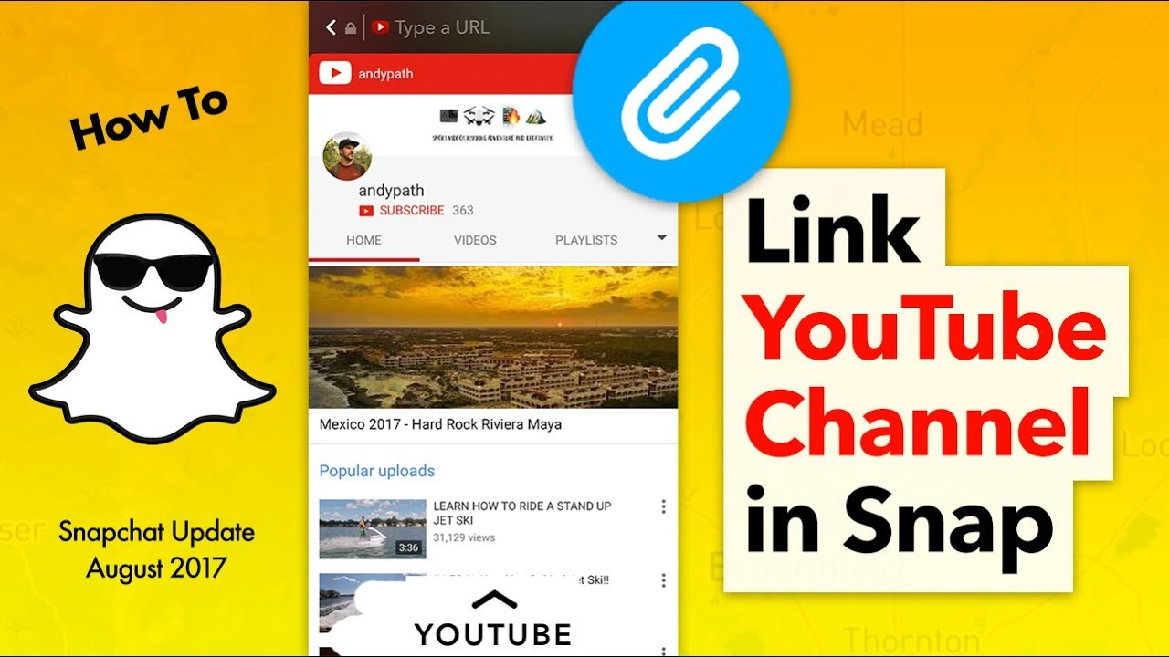 how to change link to youtube channel